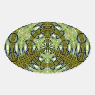 Adesivo Oval Selva estrangeira