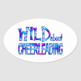 Adesivo Oval Selvagem sobre Cheerleading