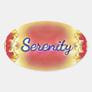 Adesivo Oval Serenidade quadro inspirada do amarelo vibrante do