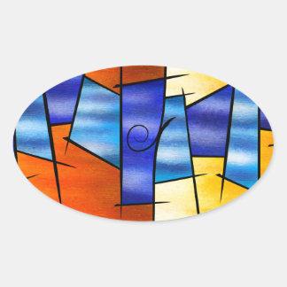Adesivo Oval Seria Caloni V1 - o presente