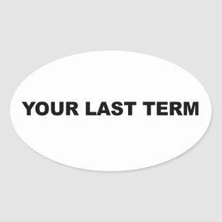 Adesivo Oval Seu último período