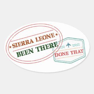 Adesivo Oval Sierra Leone feito lá isso