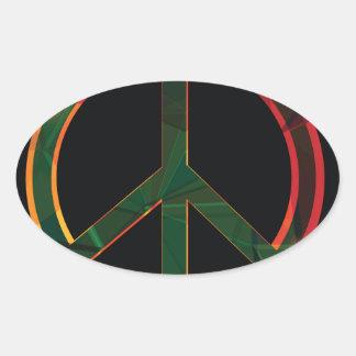 Adesivo Oval símbolo da liberdade