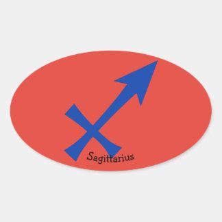 Adesivo Oval Símbolo do Sagitário