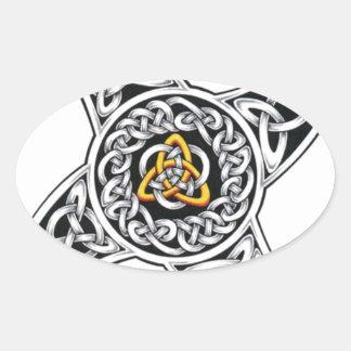 Adesivo Oval símbolo dos céltico-guerreiros