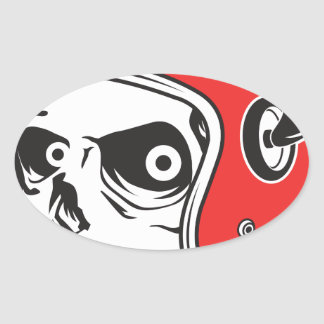 Adesivo Oval ☞ Skullracer motorcycle helmet