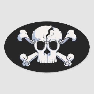 Adesivo Oval Skullusion