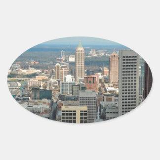 Adesivo Oval Skyline de Atlanta