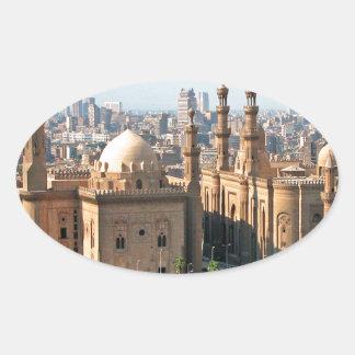 Adesivo Oval Skyline de Cario Egipto