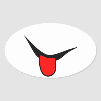 Adesivo Oval Sorriso - língua