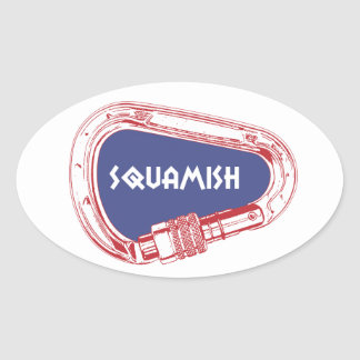 Adesivo Oval Squamish que escala Carabiner