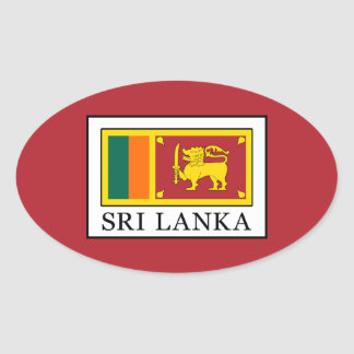 Adesivo Oval Sri Lanka