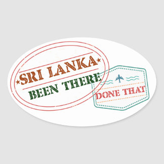 Adesivo Oval Sri Lanka feito lá isso