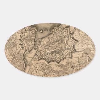 Adesivo Oval Suiça 1773 de Genebra