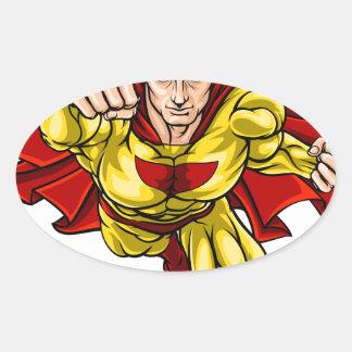 Adesivo Oval Super-herói