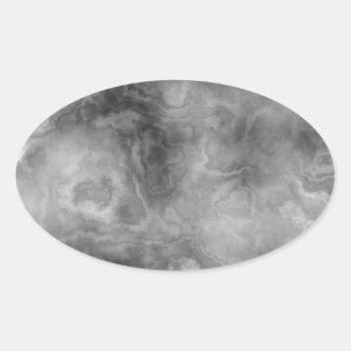 Adesivo Oval Superfície de mármore