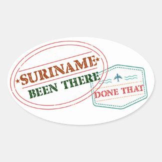 Adesivo Oval Suriname feito lá