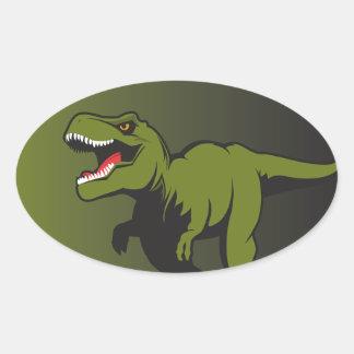 Adesivo Oval T-Rex personalizou artigos