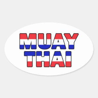 Adesivo Oval Tailandês de Muay