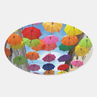 Adesivo Oval Telhado dos guarda-chuvas