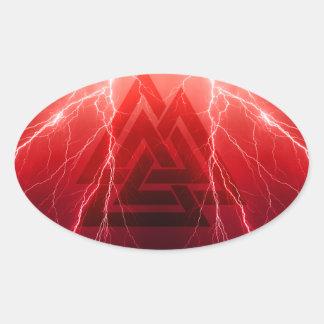 Adesivo Oval Tempestade de Viking