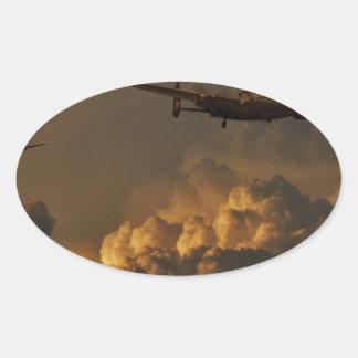 Adesivo Oval TEMPESTADE do bombardeiro de Lancaster
