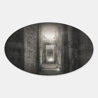 Adesivo Oval Templo Abydos de Seti I