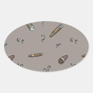 Adesivo Oval Teste padrão do charuto