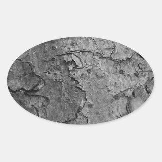Adesivo Oval Textura de madeira