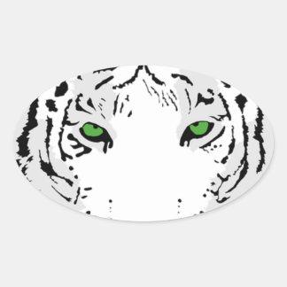 Adesivo Oval Tigre feito sob encomenda personalizado da neve