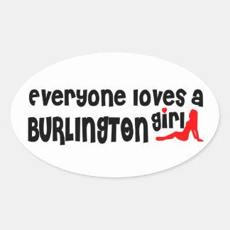 Adesivo Oval Todos ama uma menina de Burlington