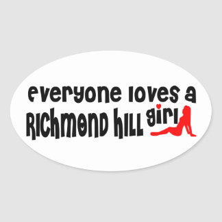 Adesivo Oval Todos ama uma menina de Richmond