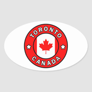 Adesivo Oval Toronto Canadá