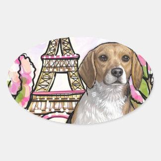 Adesivo Oval torre Eiffel Paris do lebreiro