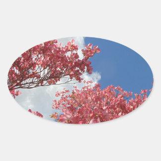 Adesivo Oval Torrente das flores