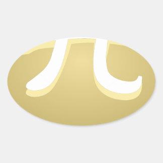 Adesivo Oval torta feliz do dia do pi