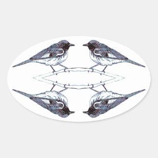 Adesivo Oval Toutinegras