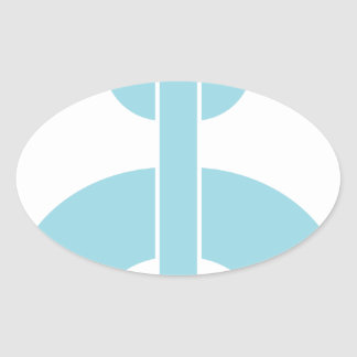 Adesivo Oval Trave a corrente de N