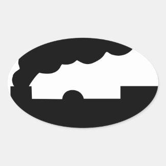 Adesivo Oval Trem de estrada de ferro