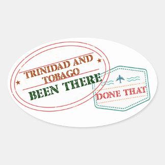 Adesivo Oval Trinidad and Tobago feito lá isso