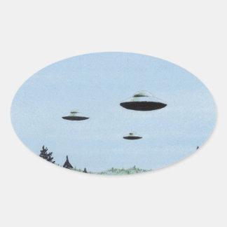 Adesivo Oval Trio do UFO