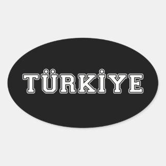 Adesivo Oval Türkiye