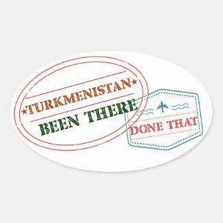 Adesivo Oval Turkmenistan feito lá isso