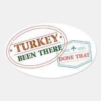 Adesivo Oval Turquia feito lá isso