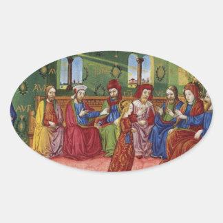 Adesivo Oval Uma apresentação da Virgem Maria c1476