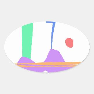 Adesivo Oval Uma cegonha - você não está sozinho