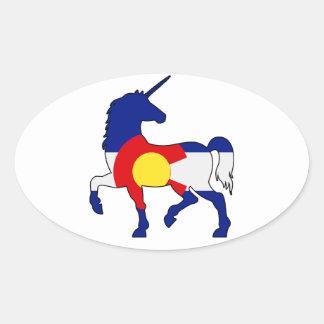 Adesivo Oval Unicórnios e Colorado!