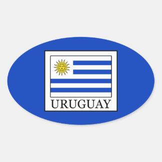 Adesivo Oval Uruguai