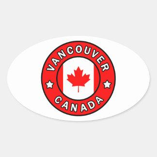 Adesivo Oval Vancôver Canadá