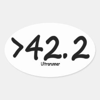 Adesivo Oval Vara de maior de 42,2 Ultrarunner/4 por a folha